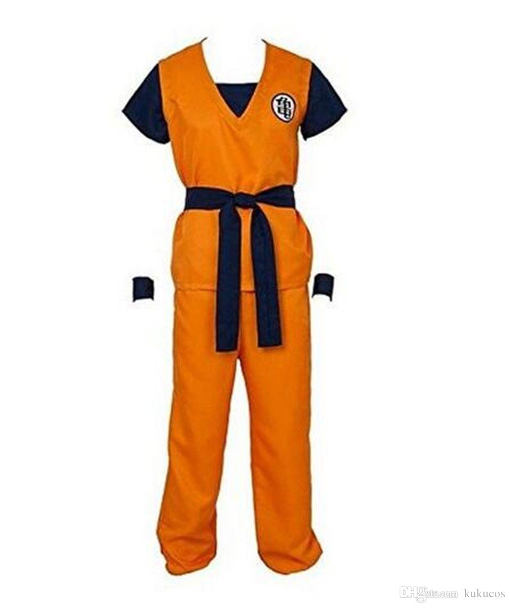 0bc7853ced85e Kukucos Anime Dragon Ball Z Son Goku Cosplay Kostüm Show Anzug Halloween  Geschenk Schöne Set