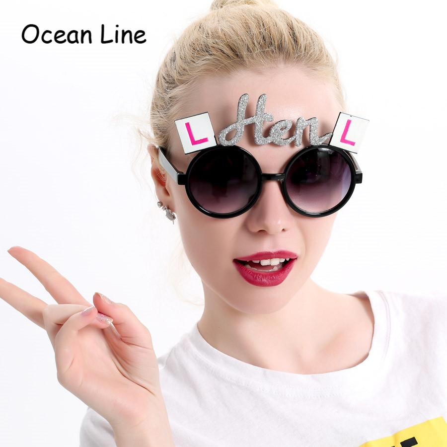 2018 Shiny Silver Hen Bachelorette Party Costume Makeup Glasses ...