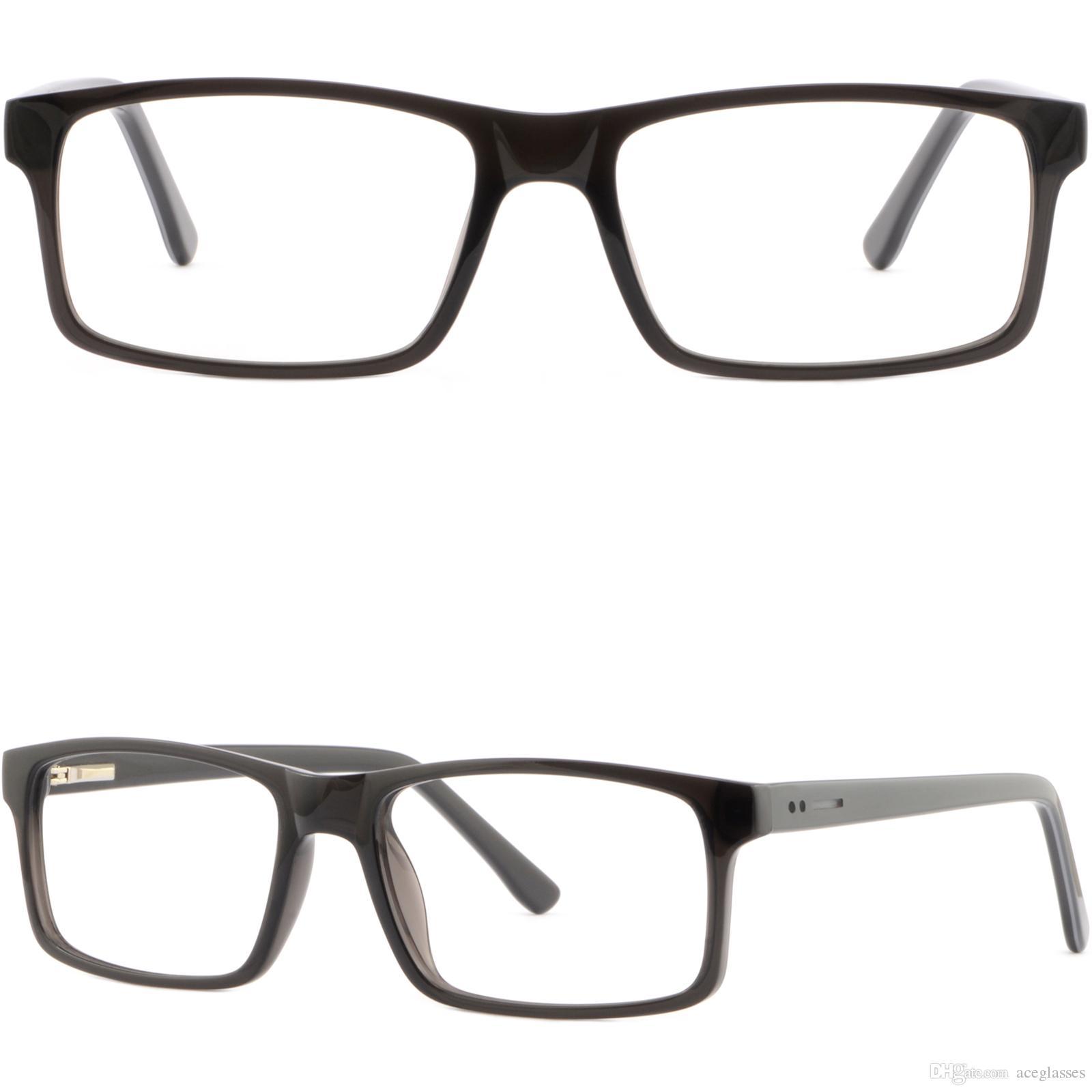 Men Women Plastic Acetate Frame Prescription Glasses Spring Hinges ...