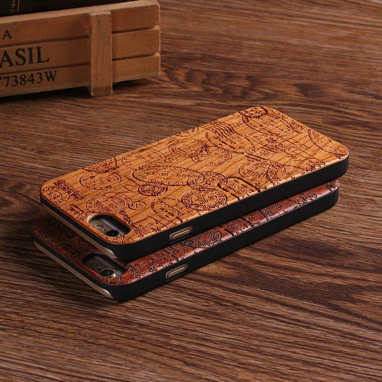 Vrai Bambou Stéréo Motif Cas En Bois Pour iPhone 7 6 Plus 8 8 Plus Cas Coque Téléphone Accessoires Pour Apple iPhone Couverture