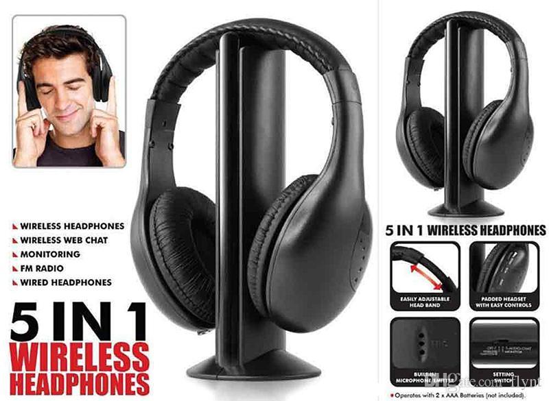 Acquista 5 In 1 Cuffie MH2001 Cuffie HiFi Cuffie Senza Fili Cuffie Con  Radio FM MPStereo TV CD Senza Fili Senza Bluetooth A  8.05 Dal Flynt  0cda1bb9a73f