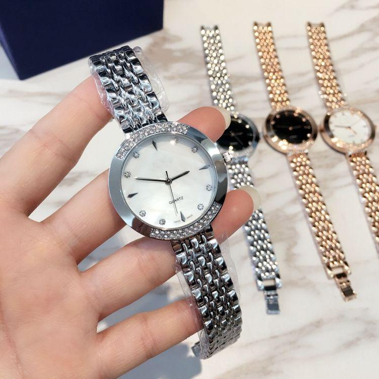 Top marca Nuevo modelo de lujo dropshipping Moda vestido de dama reloj Famoso joyería de diamantes agradable Mujeres reloj de Alta Calidad precio al por mayor