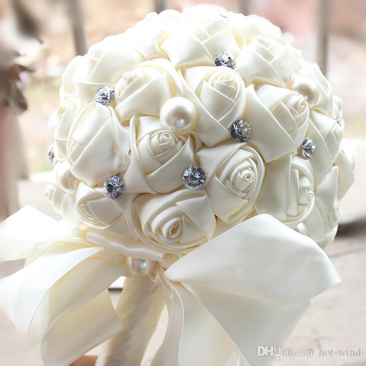 Yeni Pembe Şakayık Yapay Gelin Çiçeği Gelin Buketi Çiçek Gelin Broş Buketler buque de Noiva Gelinlik Çiçek Buket CPA816