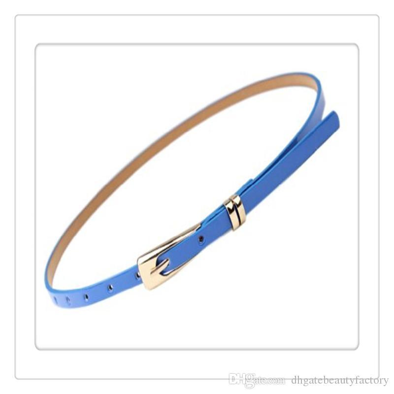Le cinture calde delle donne snelle Candy Buckle Waistband sottili cinghie sottili si vestono le donne Accessori Cintura Accessori Multicolor Spedizione gratuita