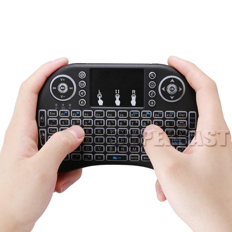 Air Mouse Teclado Rii i8 Mini Teclado Sem Fio Android Caixa de Tv Controle Remoto Backlight Teclados Usados Para S905W S912 Na Caixa