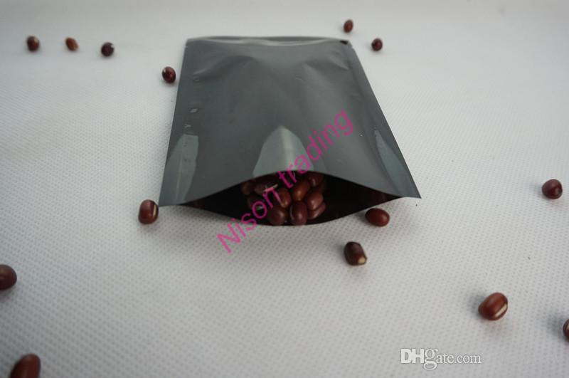 7 * 10 cm schwarz aluminium plating bag, 200 teile / los aluminized mylar gesichtsmaske verpackung flache taschen, beheizten versiegelung ping tasche