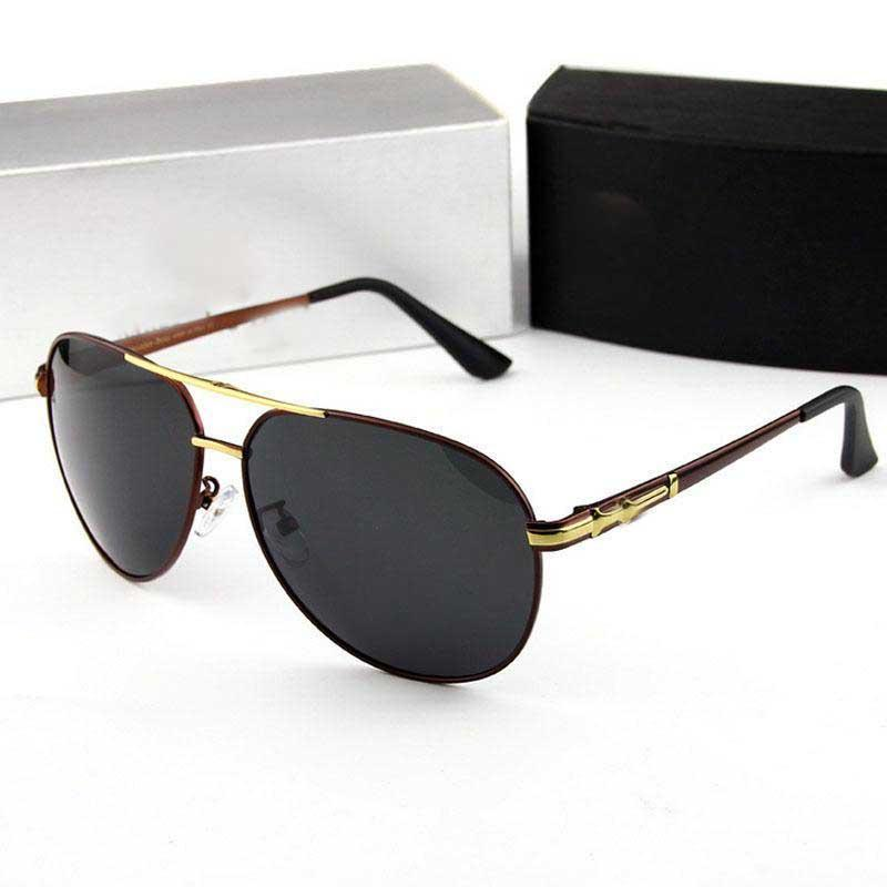 a896a534d3 Compre Nuevas Gafas De Sol Para Hombres Con Gafas De Sol De Marca  Polarizadas Que Conducen Con Un Marco De Metal De Alta Calidad Para Hombre  Gafas De Sol De ...