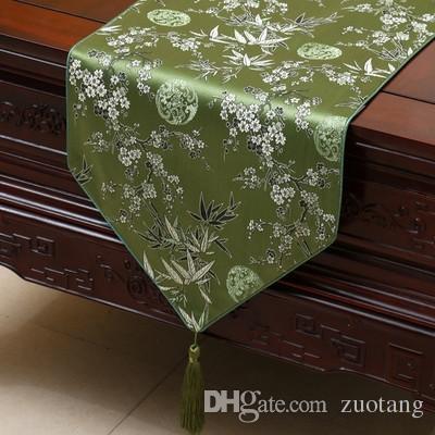 Grosshandel Klassische Verlangern Plum Bambus Tischlaufer Mode Luxus