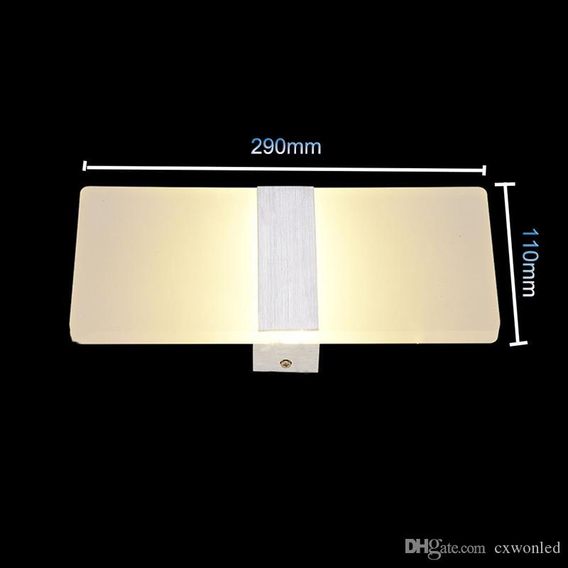 Sconce Wall Lamp Square 85-265v 12w Led Light Foyer Corridor Balcony Aisle Wall Lamp White Warm White Wall lights with Black Silver Cover