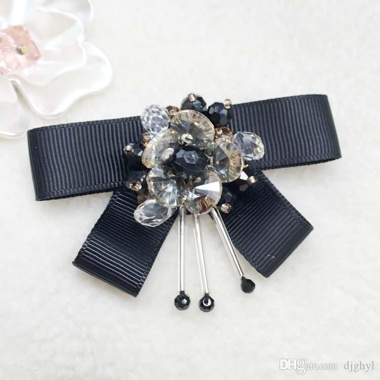 Pins And Brooch Women Pin Brooches Real Ribbon Trendy Broches Jewelry Fashion Bow Brooch Vintage Collar Pin Corsage Shirt Collar Flowers Tie