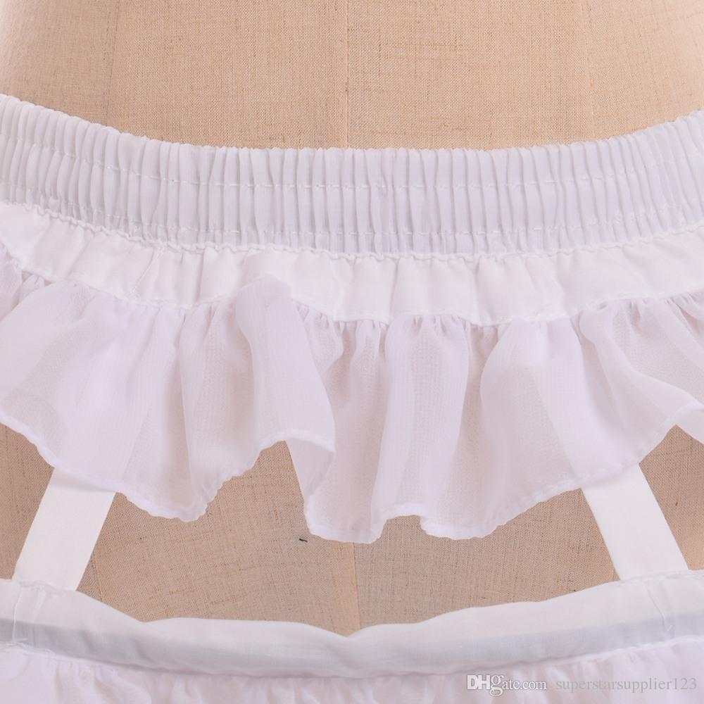 White/Black Fishbone Petticoat Women Cosplay Accessory 2 Types Gothic Victorian Lolita Chiffon Falbala Underskirt Fast Shipment
