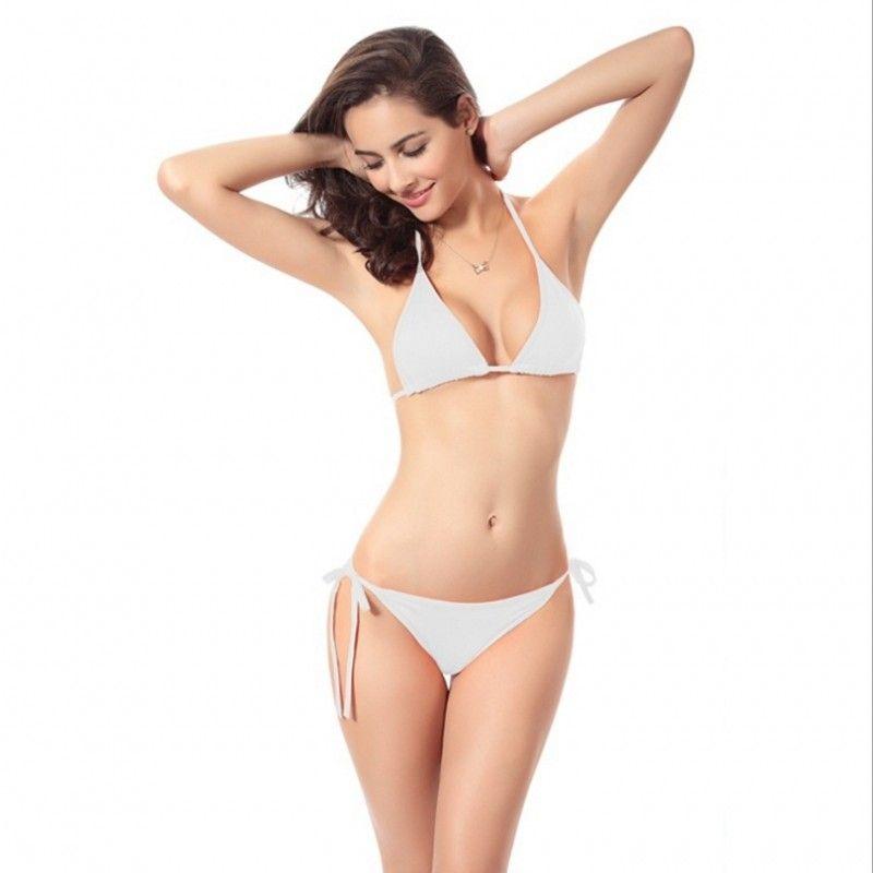 Bikini mujer sexy Set 2018 Summer Europa y América Sexy doble cofre envuelto Dos juegos de playa Bikini Swimwear traje de baño Mujer