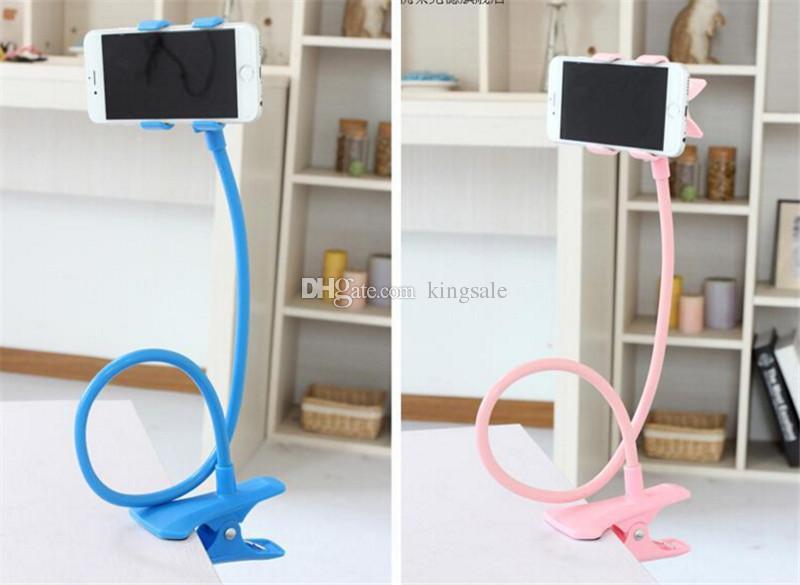 En stock Universal 360 giratoria flexible largo brazo teléfono celular soportes titulares soporte perezoso cama escritorio tableta coche selfie soporte de montaje