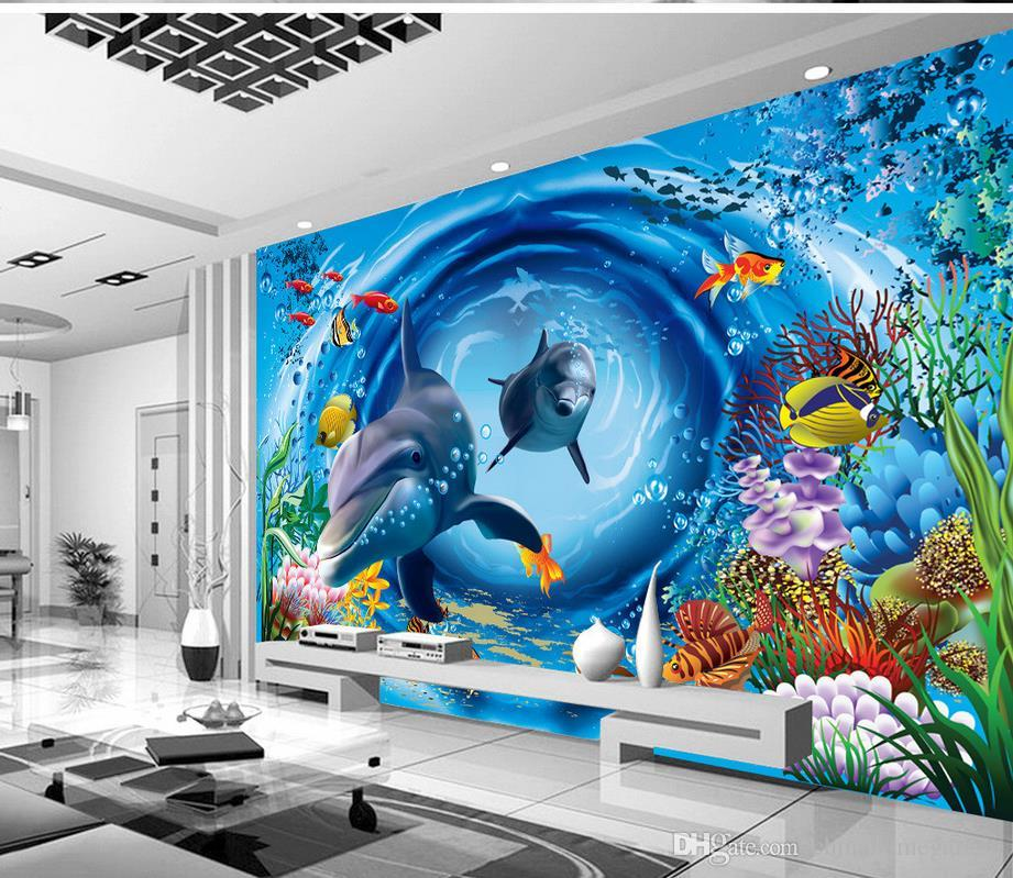 Mural 3d wallpaper 3d wall papers for tv backdrop 3d for Mural 3d wallpaper