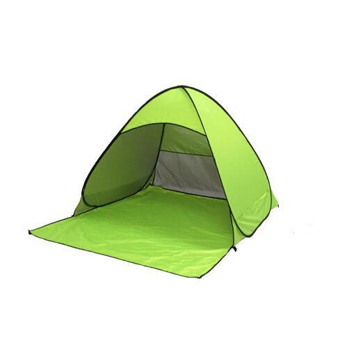 2017 new beach tent pop up open 1-2person quick automatic open 90% UV-protective sunshelter for camping fishing