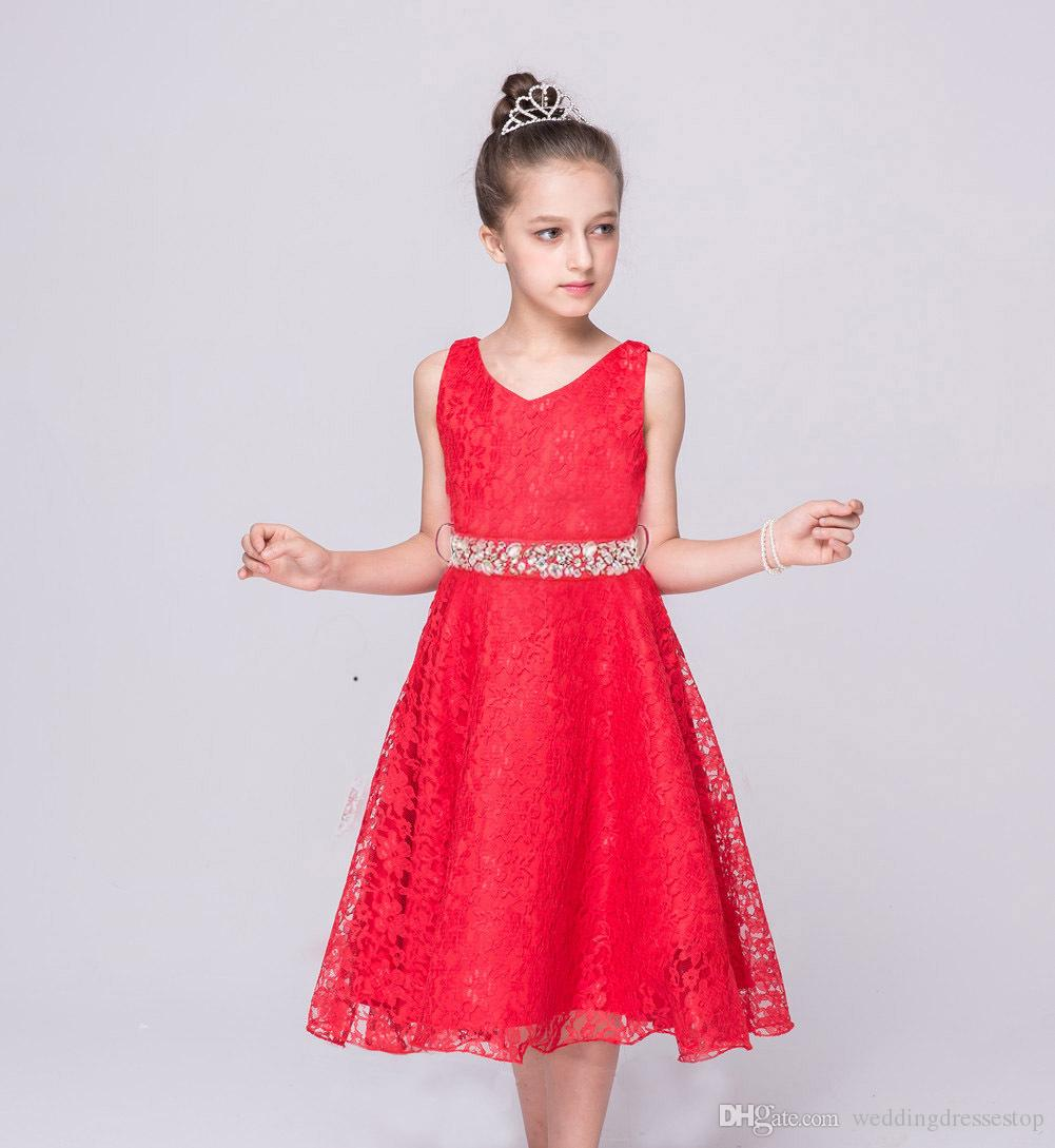 Girls Party Dress Kids 2017 Designer Children Teenagers Prom Party ...