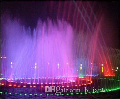 Nouveau 2017 10W RGB LED sous-marin de lumière imperméable IP68 Fontaine Piscine Lampe de piscine 16 Changement coloré avec une télécommande IR 24KEY