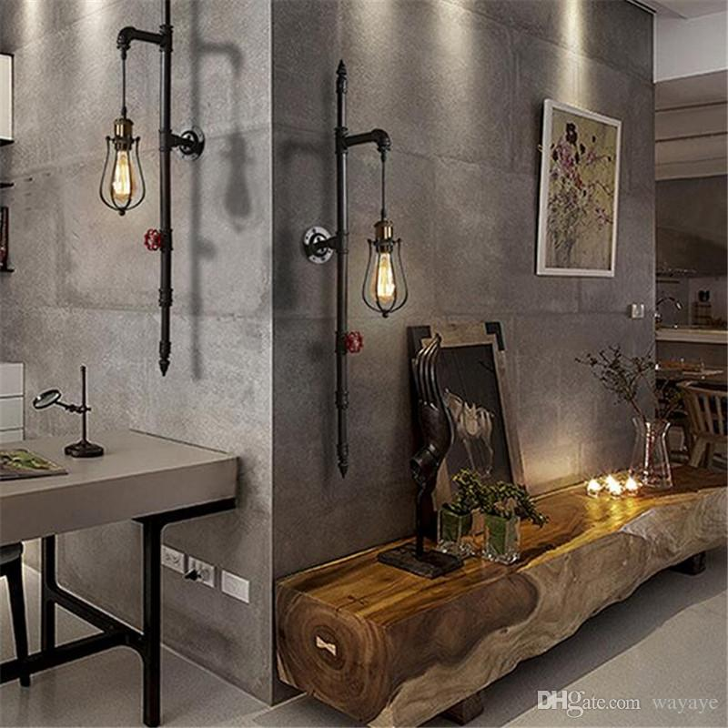 2019 Vintage Loft Industrial Water Pipe Lamp Retro Iron