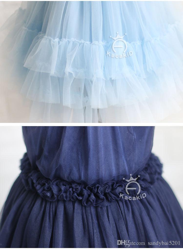 Kids Girls Lace Dress Baby Girls Tulle Party Dresses Infant Princess Sleeveless TuTu Dress 2017 Summer Children Boutique Clothes B484