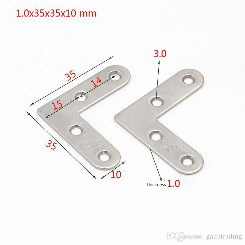10 pezzi piano L tipo acciaio inox angolo barcket mobili raccordo hardware di famiglia parte di fissaggio