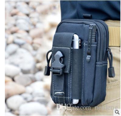 المحفظة الحقيبة المحفظة حالة الهاتف في الهواء الطلق الحافظة التكتيكية العسكرية رخوة الورك حقيبة الخصر حزام مع سحاب لفون / سامسونج