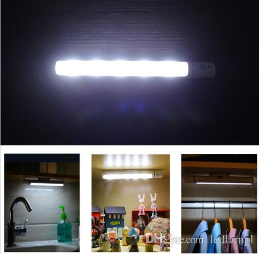 Motion Sensor Night Light Potable LED Closet Lights Wall Lamp Battery  Powered Wireless Cabinet Leds Lamp With Magnetic Strip LED Outdoor Light  Solar Light ...