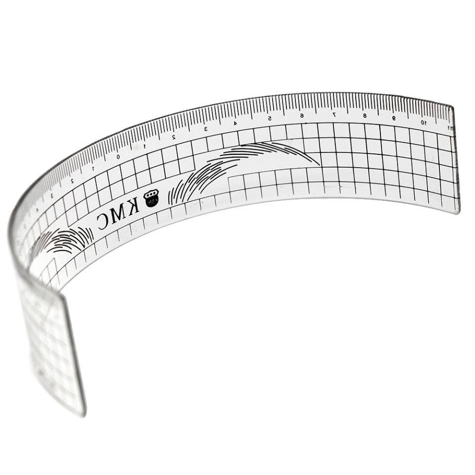 Plastic Eyebrow Stencil Shaper Ruler Resuable Makeup Eyebrow Measure Tools Professional Permanent Tattoo Template Ruler