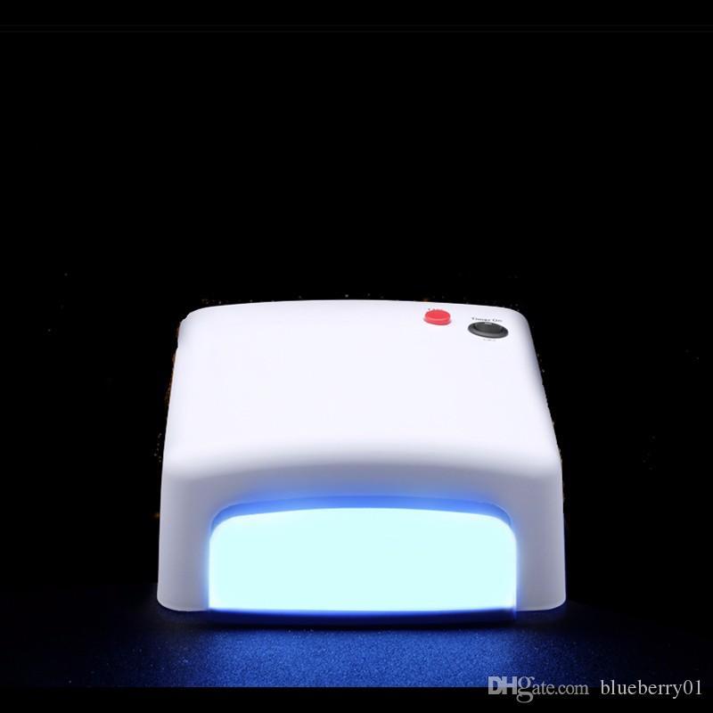 36 W Kür Tırnak Kurutucu UV Lamba Işık Salon Spa Akrilik Jel 36 Watt Beyaz