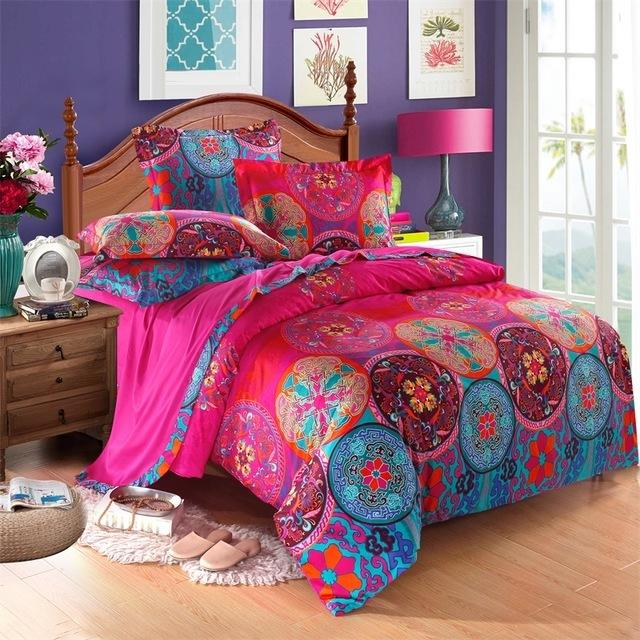 svetanya bohemia bedding sets queen king size bedlinen boho moroccan style duvet cover set 100 egyptian cotton bedding for girls queen comforter set from