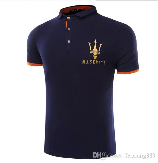 Maserati Crown Polo Shirts Golf Slim Comfortable Designer Formal Polo Shirts with Cotton Blend for Men ,Size M-4XL