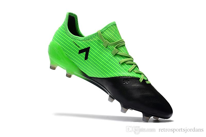 Ace 17.1 + PureControl Soccer cleats Kangaroo skin leather Low tops football boots black green red blue outdoor sports shoes FG