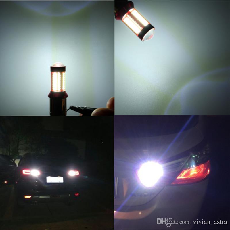 1156 BA15S 1157 BAY15D 7440 7443 T15 5W 1200LM Canbus 78 LED Car Light Bulb For Brake Lights Auto Daytime Running Light