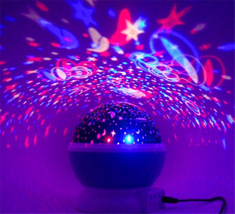 2015 più nuovo rotazione notte luce stellata stella stella luna cielo romantico notturno proiettore luce laminazione decorando matrimonio, compleanno, feste spedizione gratuita