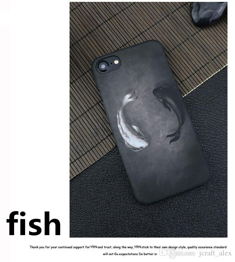 Fashion Fish Animal Shell Phone Cover For Iphone7plus 5s/6/6s/7/plus Ultrathin Soft Iphone6s Protector Fingerprint-proof Mobile Phone Case