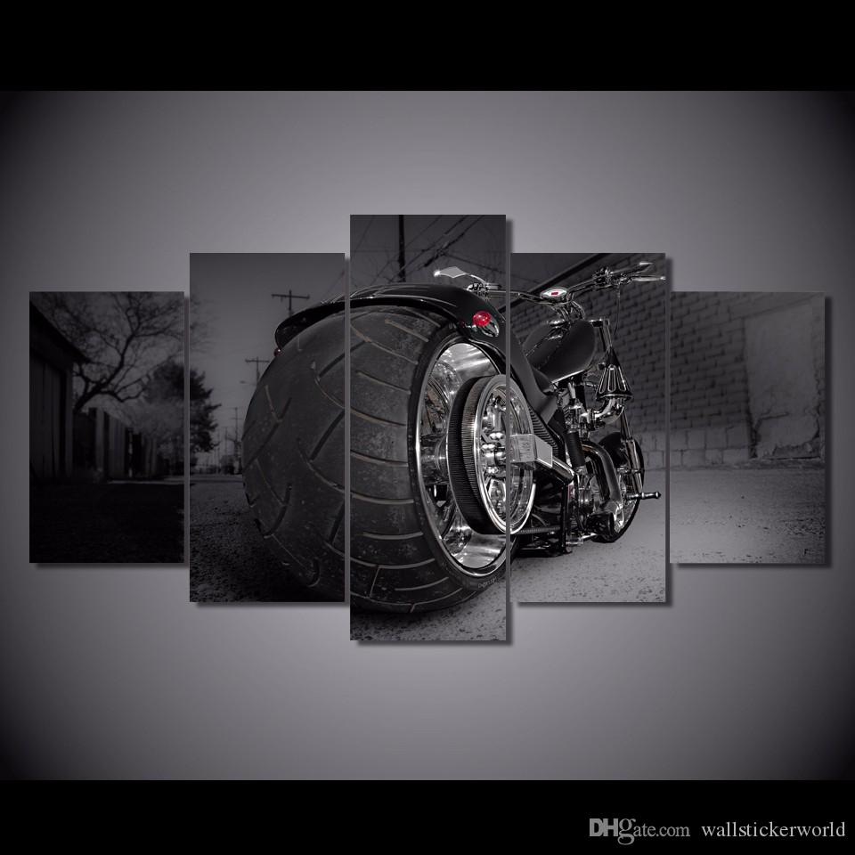 Framed Printed motorcycle bike chopper sports style Painting Canvas Print room decor print poster picture canvas art