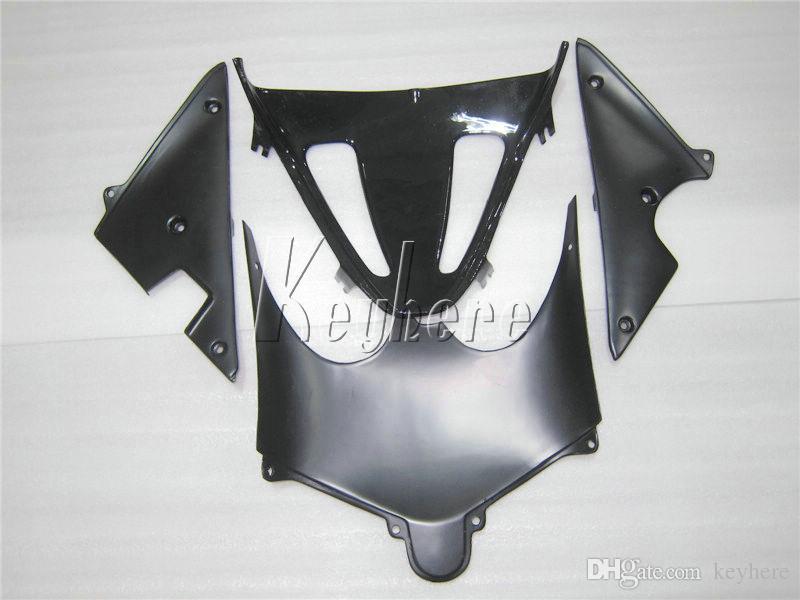 Kit de carénage de haute qualité pour Suzuki GSXR600 01 02 03 flamme bleue carénage de carénage noir GSXR750 2001 2002 2003 IY10