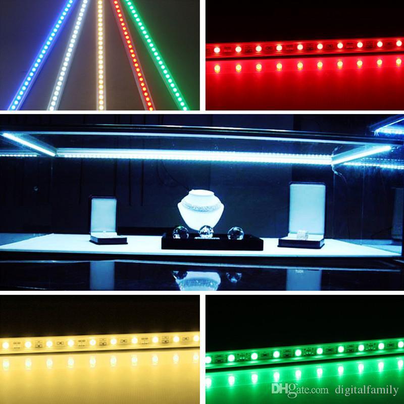 Striscia LED 6XHard Luce subacquea impermeabile IP68 5630SMD Cool White Bar rigida 36 LEDs Strisce di illuminazione 0,5 metri con i la scelta