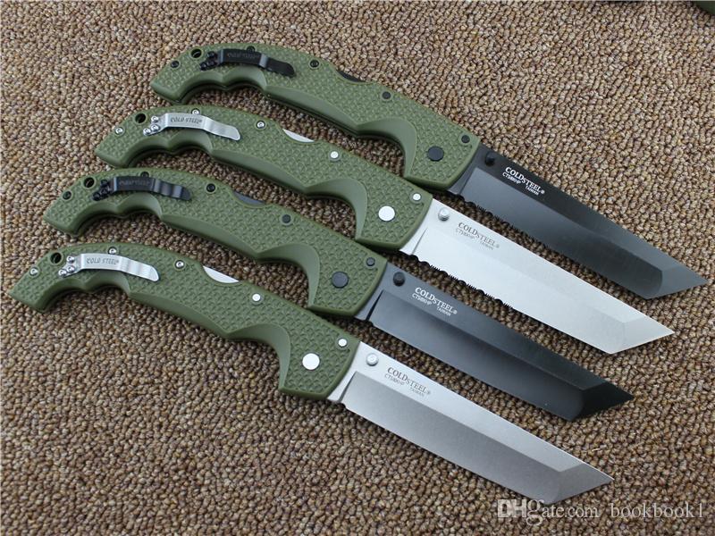 10 tipos de Aço Frio VOYAGER FACAS XL-SIZE série Grande faca dobrável utilitário de sobrevivência caça facas táticas ao ar livre Frete grátis.