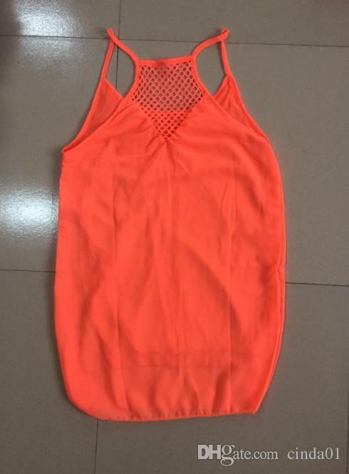 verano 2017 nuevas mujeres de la playa ocasional vestidos de gasa de ropa femenina atractiva Boho maxi correa de espagueti del vestido sin mangas vestido de fiesta suelta