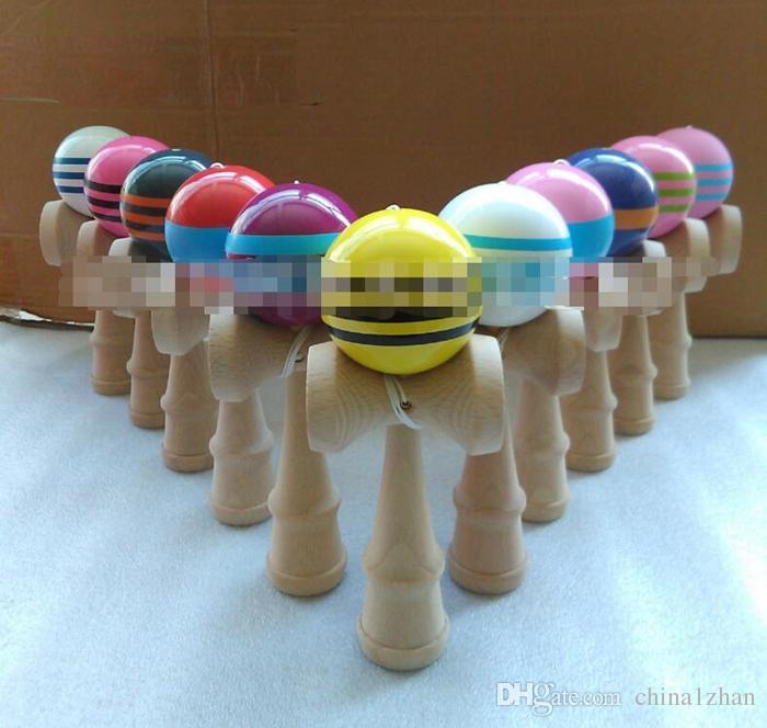 Kendama Japanese Traditional Wood Kendama Ball Game Toy Wholesale Kendama Ball Wood Toys Education Gift Plus Size DHT76