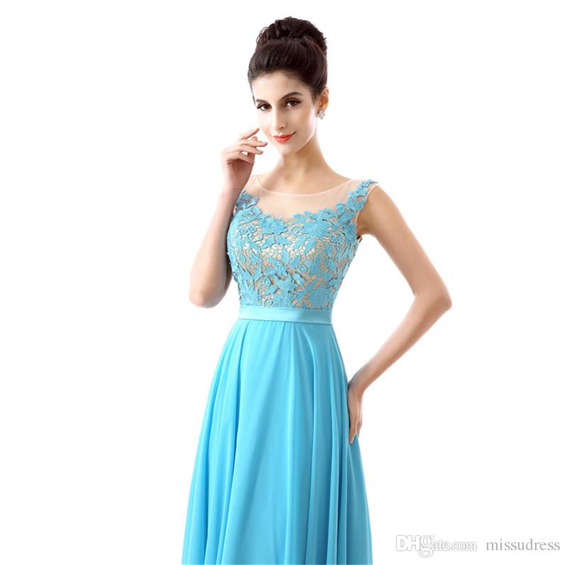 Jewel Blue Lace cheap prom dresses Chiffon Sexy Backless formal evening gowns mermaid prom dress mermaid style 2017