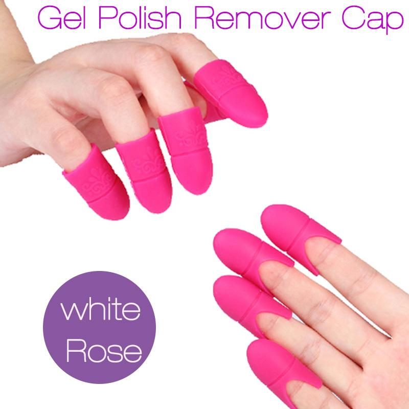 New Nail Art Gel Polish Remover Cap Silicone Soak Off Cap Clip Gel ...