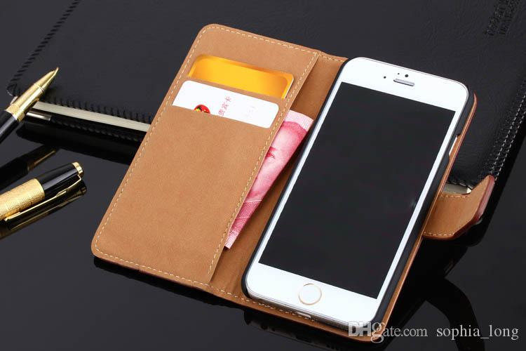 For iPhone 6 6S Plus Genuine Leather Case for iPhone 8 7 Plus + Cell Phone Bag Cover for iPhone 5 5S SE Shell