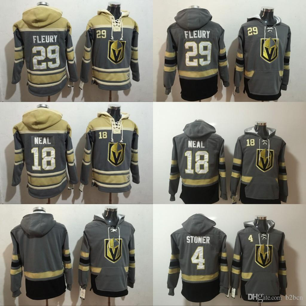 2019 Custom Vegas Golden Knights Marc Andre Fleury Jersey Hoodie Pullover  James Neal Clayton Stoner Sweatshirts Winter Stitched From B2bcn cb83b67f8
