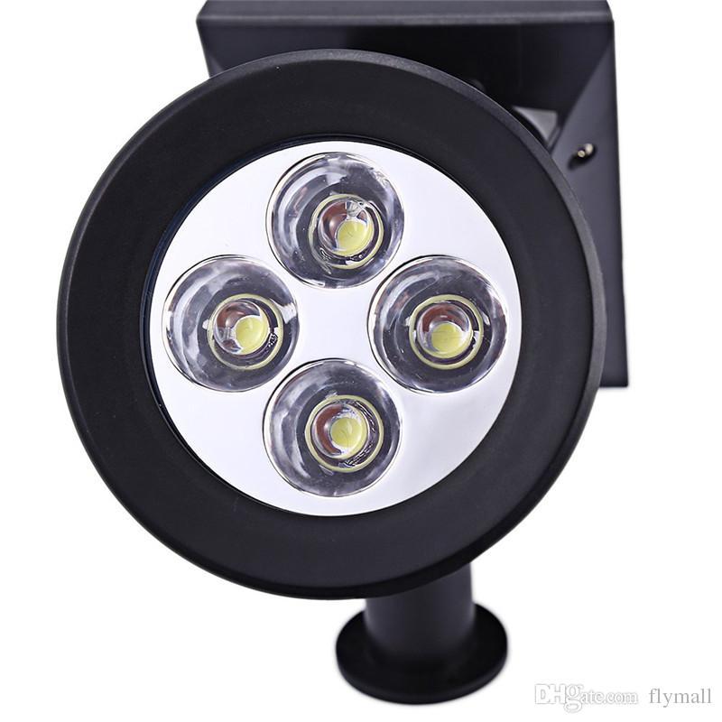 2 in 1 Solar Powered 4-LED Outdoor Solar Lamp led Lighting System Light Lamp Landscape Lighting Outdoor Spotlight