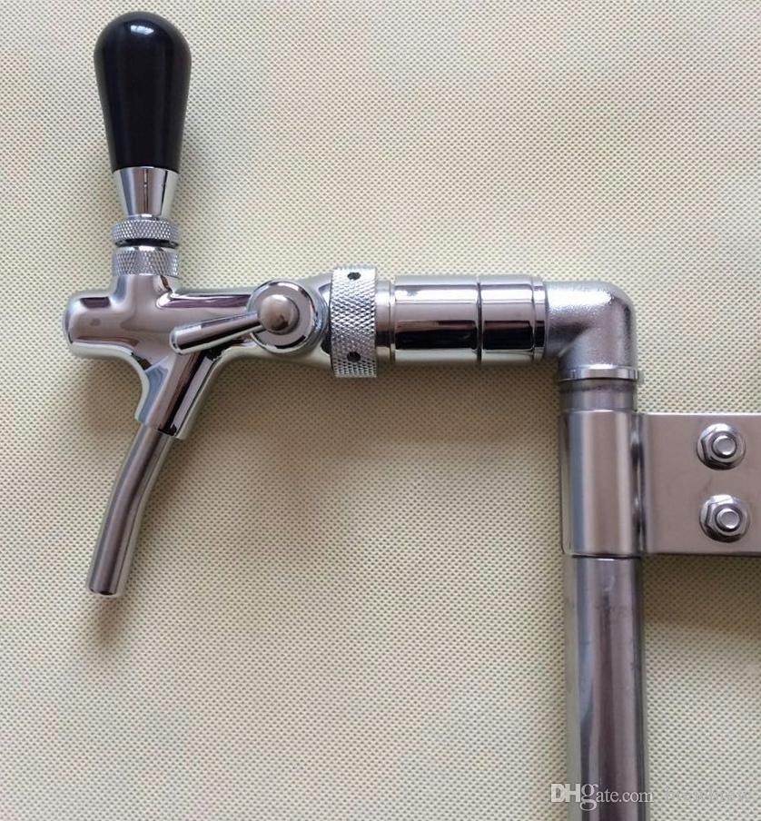 Fass-Partypumpe mit Zapfhahn, amerikanisches Getränk Bier-Picknickpumpe im Rod-Stil mit Kompensator / Durchflussregulierungshahn