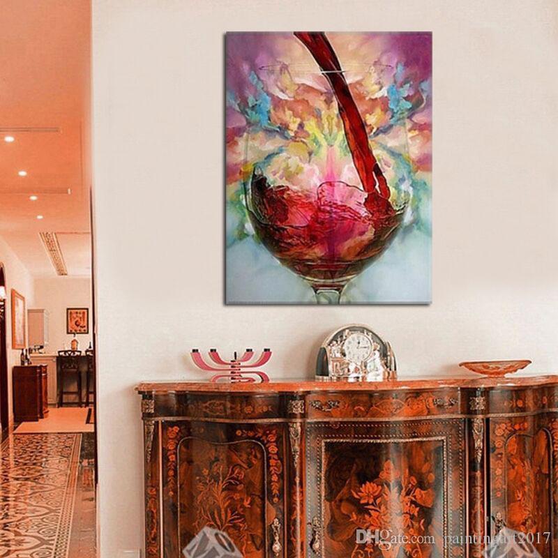 Abstraktes Ölgemälde handgemalt auf Segeltuch-moderner Segeltuch-Kunst KEIN Rahmen für Hauptdekoration Weihnachtsgeschenk