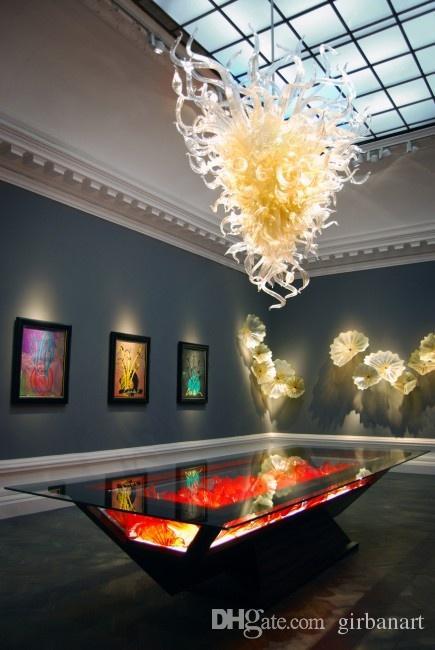 Лампы Красивые художественные декоративные хрустальные люстры и кулон легкие ремесленные изделия современный стиль ручной вручную стеклянной люстры