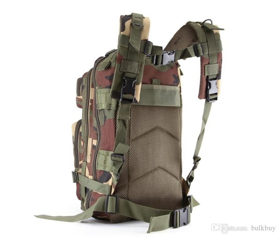 Bolsa de moda Camuflaje Cackpack Army Fan Bag Hombros de alto grado Wearproof Bag 3p Tácticas Ultra Popular Leisure wholesale
