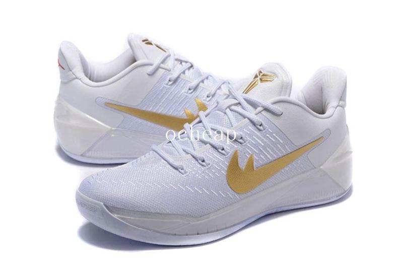 da6f0aa217e5 ... Nike Flight Club Kobe Ad White Gold Christmas Day Pe Basketball Shoes  Mens Kobe 12s Kb 12 Sneakers Size ...